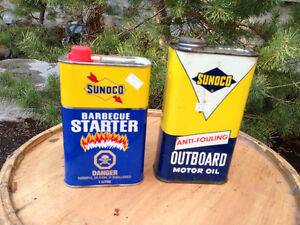 VINTAGE SUNOCO CANS - PARKER PICKERS -