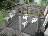 Gazebo -  metal frame and netting