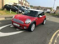 Mini Cooper Red 57 Plate Red & While Full Stamped Service History 1 year Mot