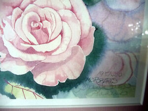"""L/Edition, Hand Signed, Mary-Dawn Roberts, """"Victorian Roses"""" Stratford Kitchener Area image 5"""