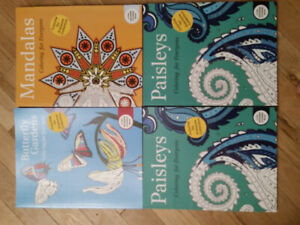 Adult colouring books set of 4