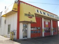 QUICK LUBE & OIL CHANGE BUSINESS FOR SALE ,LEASE