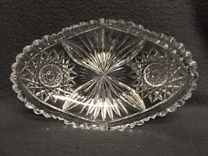 Collectible Antique Crystal Oval Candy Dish London Ontario image 6
