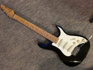 Samick Electric guitar, strap and stand