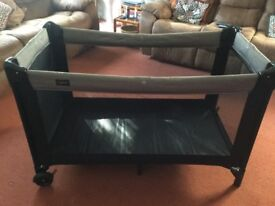 Baby Dan travel cot and mattress