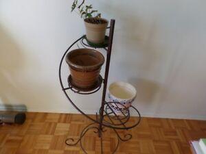 Support à plante en spirale pour 4 pots de fleurs
