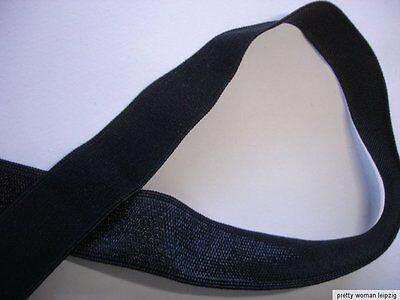 10m Gummiband 0,25€/m schwarz  15mm breit TA48
