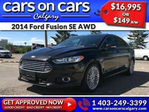 2014 Ford Fusion SE AWD w/Leather, Navi, BackUp Cam $149B/W INST