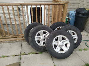 5 Tires and Rims, 225 75 16