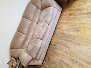 Light Brown Suede Couch