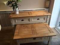 Console table and matching coffee table