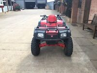 Arctic Cat 2005 400cc quad bike with 4wd and diff lock. Has a Suzuki engine in it