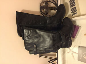 Leather boots wide calves
