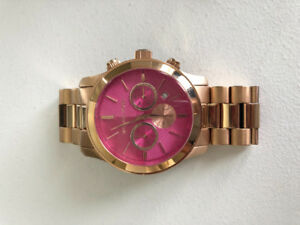 Michael Kors Womens Watch (boyfriend) in Rose Gold , Pink