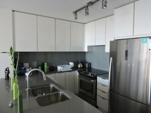 Luxury brand new condo near SFU.  Completely furnished.