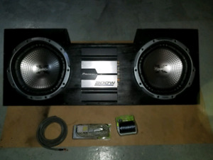 Subwoofer 2600Watts with amp pioneer, new wiring