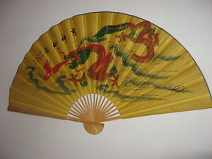 """Veritable Eventail Chinois 62""""x35"""""""