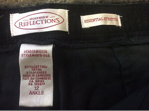 Ex Used Cond Northern Reflect Black Cords Size W12