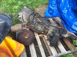 4l80e trans and NP 243c transfer case