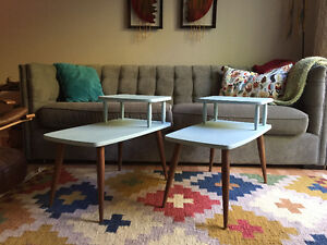 Two mid century/modern end tables