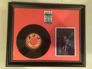 "George Harrison Framed - 45 Record ""Lay His Head"""