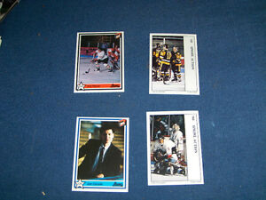 LOT OF 4 LHMQ HOCKEY CARDS-7TH INNING STRETCH-1990-VINTAGE!