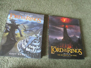 Lord of the Rings books set of two hard cover