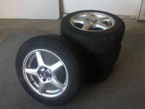 Micheline X-Ice 185/65 R15 snow tires on aluminium rims