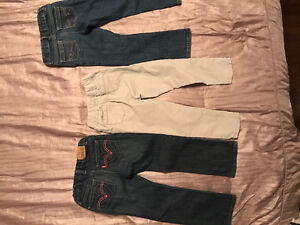Toddler Girl - (3) Pants & (3) Tops Girl - Sz 4T