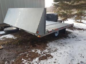 Double snowmobile /ATV trailer
