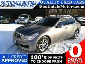 2009 INFINITI G37X AWD * LEATHER * SUNROOF * REAR CAM * POWER GR