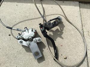 drz 400 sm rear hand brake setup