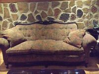 Antique Couch Perfect Condition and 2 Leather Arm Chairs