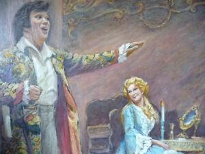 Opera, 'Mignon', Original Oil by Geoffrey Traunter, 1977 Stratford Kitchener Area image 9