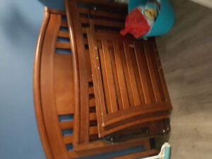 Wooden Sleigh style crib-Converts to queen/daybed