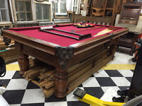 "DUFFERIN 4' X 8' OAK POOL TABLE 1"" SLATE"
