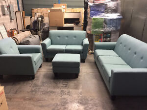 Designer Sofa, Loveseat, Chair and Ottoman in great condition