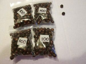 400 Small Round dark brown Beads