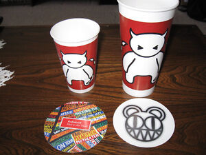 Radiohead Collectibles-cups,stickers,poster etc-all for $50
