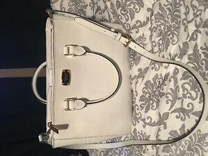 White Michael lots tote with strap