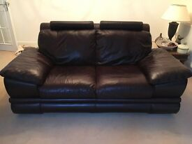 Italian soft brown leather sofas