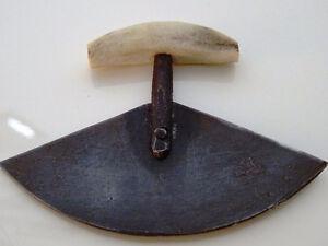 1940s ESKIMO INUIT tiny ULU blade Woman's skinning cutting too