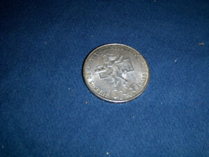 1968 MEXICAN SILVER 25 PESOS COIN-SUMMER OLYMPICS-MEXICO CITY