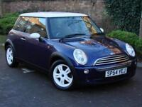 AA WARRANTY!!! 54 REG MINI HATCH 1.6 COOPER 3dr, PURPLE WITH WITH ROOF, LONG MOT