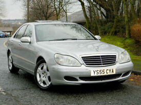 2005 55 Mercedes-Benz S Class 3.2 S320 CDI WITH 1 LADY OWNER+SUNROOF+SATNAV++