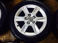 """16"""" GENUINE AUDI A3 2012 SLINE ALLOY WHEELS SET OF 4 WITH MATCHING TYRES"""