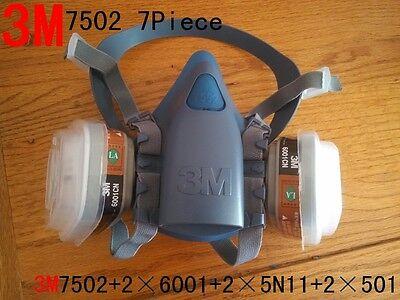3M 7502 7Piece Suit Respirator Painting Spraying ...