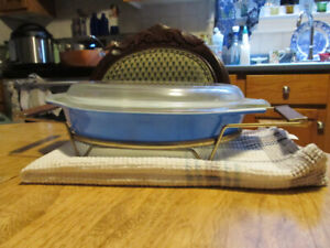 1950's PYREX  serving dish with cover and frame