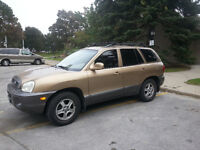 2003  Santa Fe 2.7 AWD / LEATHER SEATS / GOOD CONDITION