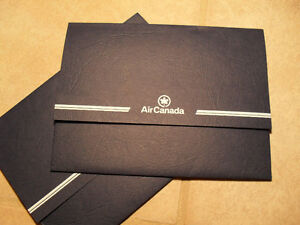Unused 1980's Air Canada writing folders/postcards